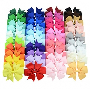 ihocon: YHXX YLEN Hair Bows Clips (3 inch, 40Pcs) 蝴蝶結髮夾