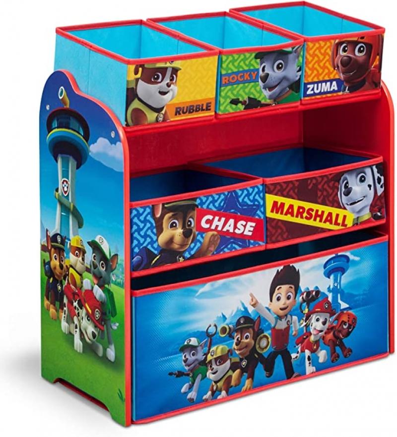 ihocon: Delta Children 6-Bin Toy Storage Organizer, Nick Jr. PAW Patrol 兒童玩具收納櫃