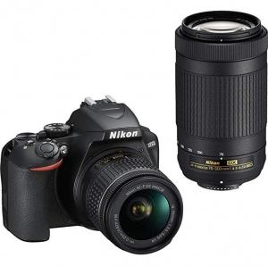 ihocon: Nikon D3500 DX-Format DSLR Two Lens Kit with AF-P DX NIKKOR 18-55mm f/3.5-5.6G VR & AF-P DX NIKKOR 70-300mm f/4.5-6.3G ED, Black單反相機及2個鏡頭