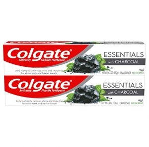 ihocon: Colgate Essentials Charcoal Teeth Whitening Toothpaste - 4.6 Ounce (2 Pack) 高露潔美白牙膏