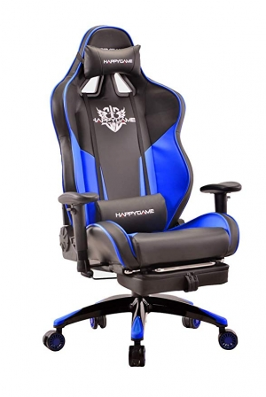 ihocon: HAPPYGAME High-Back Large Size Gaming Chair with Footrest高背電腦遊戲椅, 含外拉腿墊