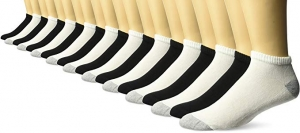ihocon: Gildan Men's Low Cut Socks, 10 Pair Pack, Shoe Size: 6-12 男襪