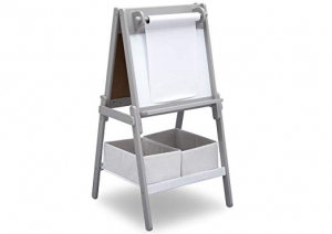 ihocon: Delta Children MySize Double-Sided Storage Easel 雙面儲物黑板/白板畫架