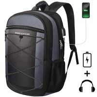 ihocon: SEEHONOR Travel Laptop Backpack with USB Charging Port, 15.6 Inch電腦背包