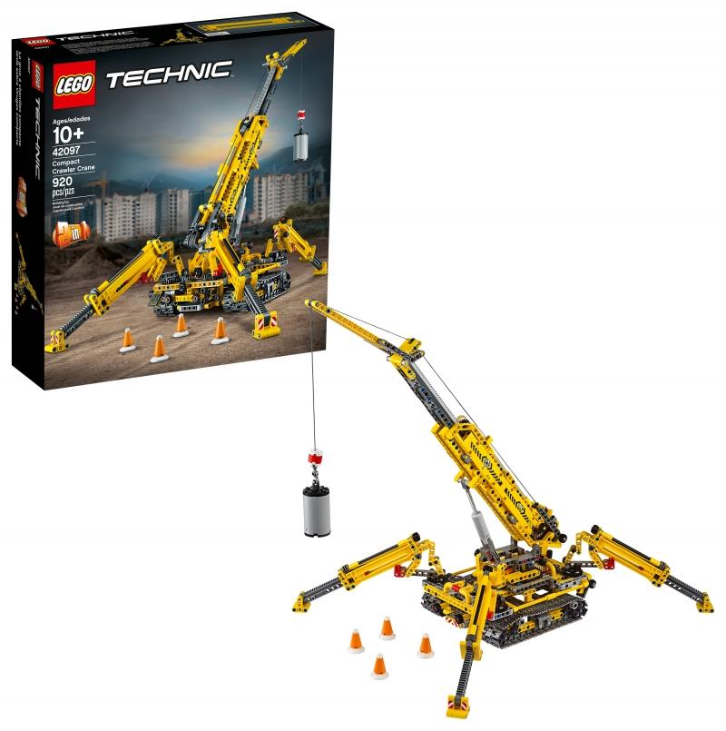 ihocon: LEGO Technic Compact Crawler Crane 42097 Construction Model Crane Set (920 Pieces)