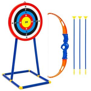 ihocon: Kids Archery Bow and Arrow Toy Play Set w/ 3 Suction-Cup Arrows, Target 兒童射箭玩具弓箭及靶