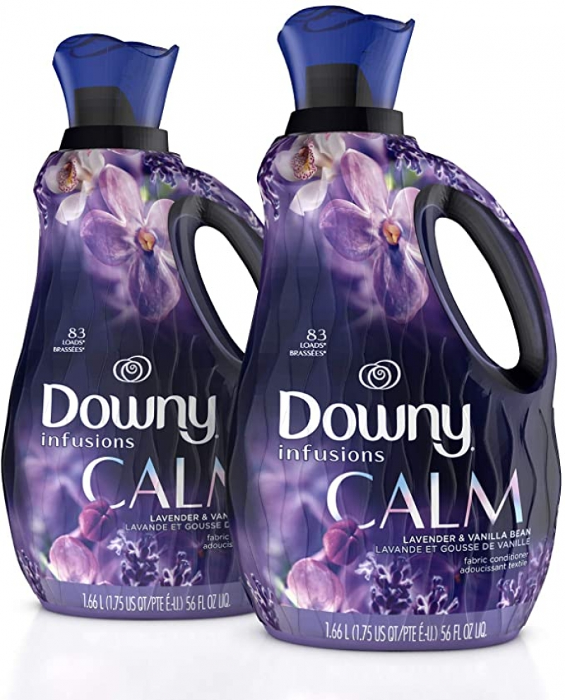 ihocon: Downy Infusions Liquid Fabric Conditioner, 56 Oz Bottles, 166 Loads Total (Pack of 2) 衣物柔軟劑
