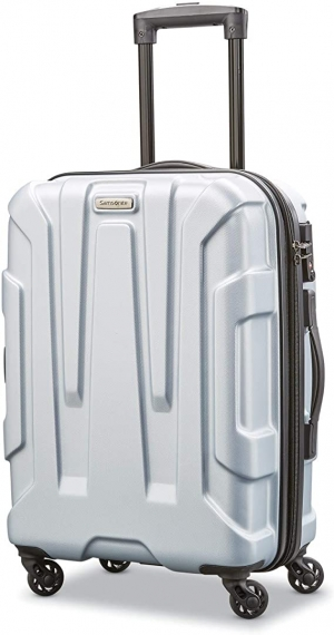 ihocon: Samsonite Centric Hardside Expandable Luggage with Spinner Wheels, Silver, Carry-On 20-Inch 硬殼行李箱