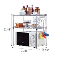 ihocon: SINGAYE 2 Tier Adjustable Oven Microwave Rack 雙層可調高度烤箱/微波爐