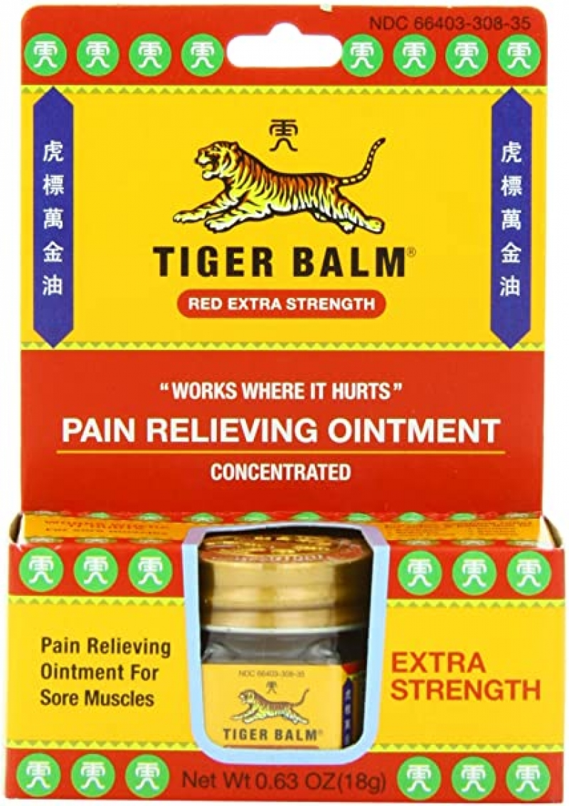 ihocon: Tiger Balm Pain Relieving Ointment, Extra Strength, 0.63 Ounce 虎標萬金油