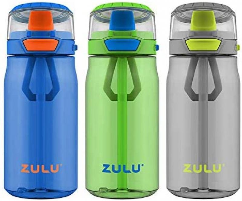 ihocon: ZULU 3 Tritan Water Bottles Flex 3 Pack, 16 OZ 水瓶