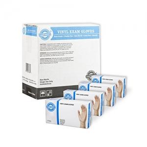 ihocon: SupplyMaster Vinyl Exam Disposable Gloves - 4 Mil, Medium, Case of 400 一次性手套