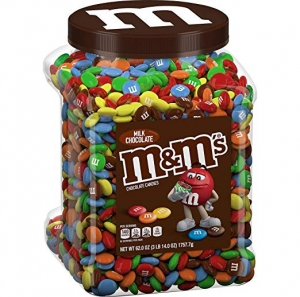 ihocon: M&M's Milk Chocolate Candies Jar (62.0 OZ), 62 oz