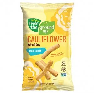 ihocon: Real Food From The Ground Cauliflower Stalks - 6 Count, 4oz Bags (Sea Salt) 花椰菜點心