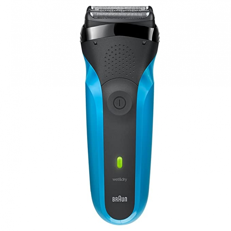 ihocon: Braun Series 3 310s Wet & Dry Electric Shaver for Men / Rechargeable Electric Razor, Blue 博朗男士乾濕兩用電動刮鬍刀
