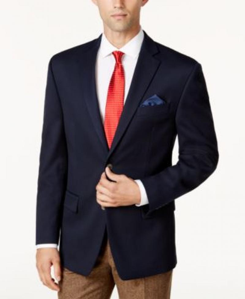 ihocon: MICHAEL Michael Kors Michael Kors Men's Classic-Fit Stretch Performance Blazer     男士西裝外套-2色可選