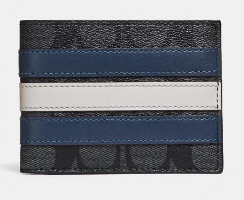 ihocon: Coach slim billfold wallet in signature canvas 皮夾