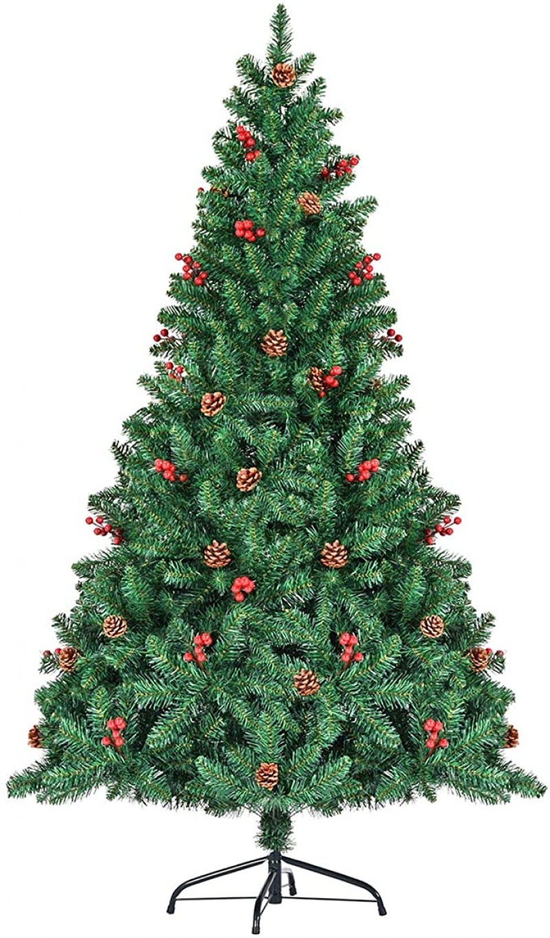 ihocon: SEZAC Christmas Tree [1.8M/5.9ft] with Red Berries & Pinecones 聖誕樹, 有漿果及松果裝飾