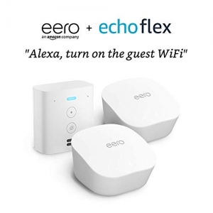 ihocon: eero mesh WiFi system, 2-Pack with Free Echo Flex 全家網路系統