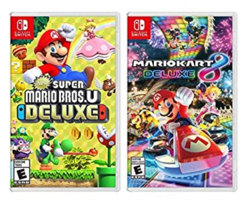 ihocon: Nintendo Switch 遊戲2個: New Super Mario Bros. U Deluxe 及 Mario Kart 8 Deluxe