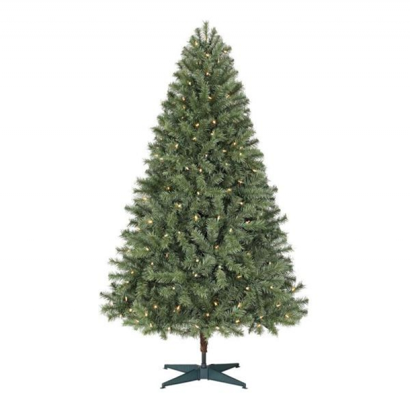 ihocon: Home Accents Holiday 6.5 ft. Pre-Lit Artificial Christmas Tree with 250 Color Changing LED Lights and 3 Functions 彩色LED燈聖誕樹