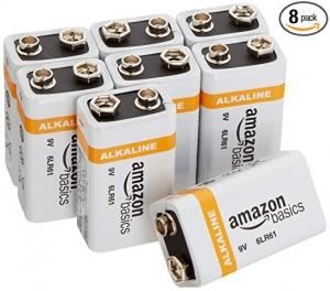 AmazonBasics 9 Volt 電池 8個  $7.69(原價$10.99)