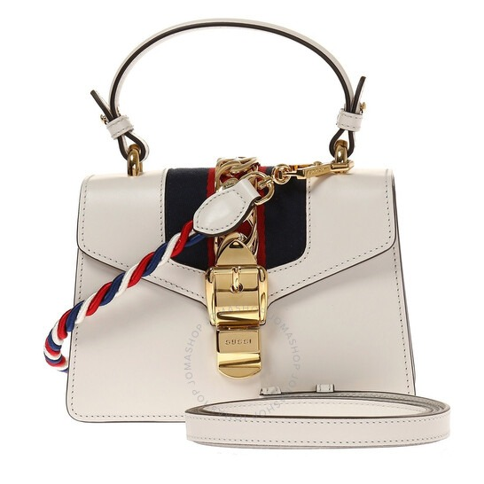 ihocon: Gucci Ladies Sylvie Leather Mini Bag-White 女士包包
