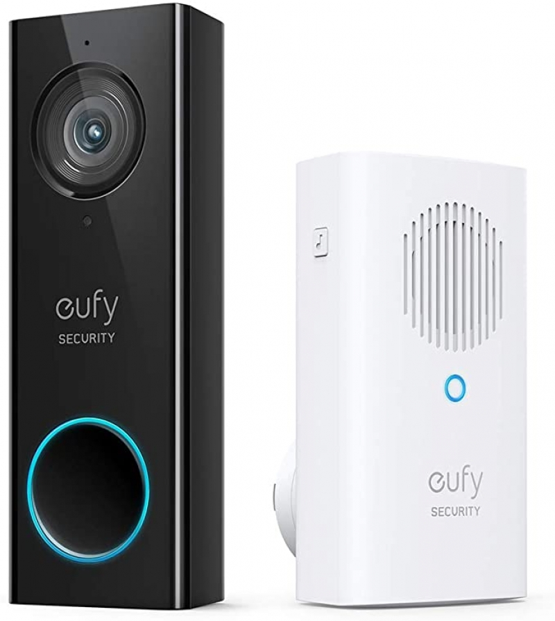 ihocon: eufy Security, Video Doorbell (Wired) with Chime, Encrypted Local Storage, No Monthly Fees 視頻門鈴(有線),無月租費