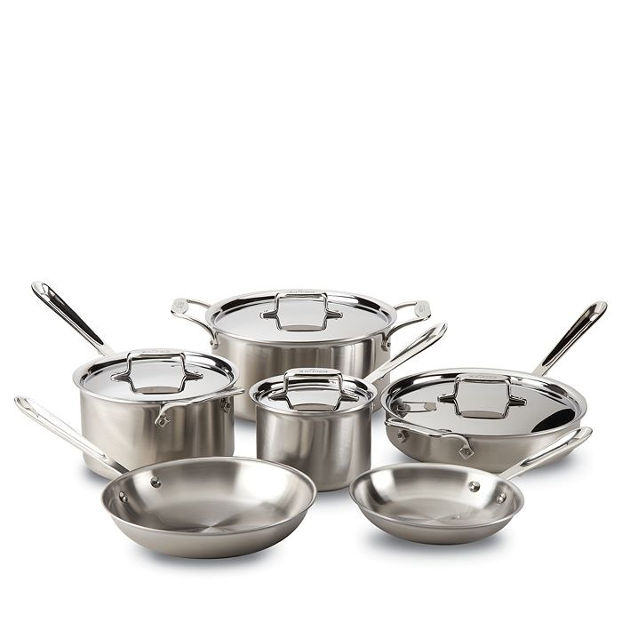 ihocon: All-Clad d5 Stainless Brushed 10-Piece Cookware Set 不銹鋼鍋組