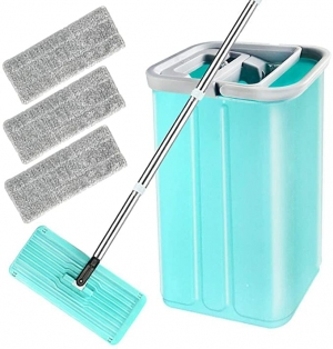 ihocon: Buyplus Floor Flat Mop Bucket Set 拖把及水桶組