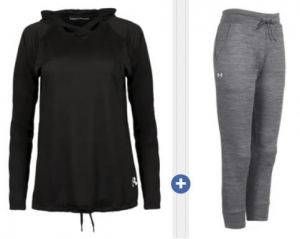 ihocon: Under Armour Women's Hoodie & Capri Bundle女士連帽衫及七分褲