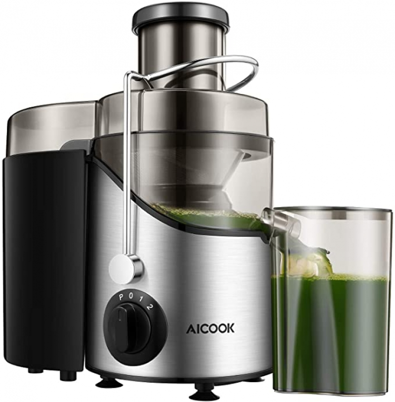 ihocon: Aicook Juicer Machine with 3'' Wide Mouth, 3 Speed 榨汁機
