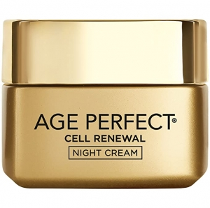 ihocon: L'Oreal Paris Age Perfect Cell Renewal Skin Renewing Night Cream  歐萊雅晚霜