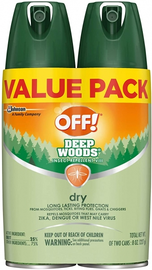 ihocon: OFF! Deep Woods Insect & Mosquito Repellent VIII, DryTouch Technology, Long Lasting Protection 4 oz. (Pack of 2) 防蚊/驅蟲劑