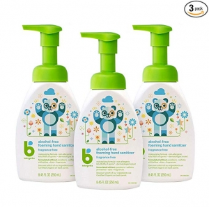 ihocon: Babyganics Alcohol-Free Foaming Hand Sanitizer, Pump Bottle, Fragrance Free, 8.45 oz, 3 Pack 無酒精泡沫手部消毒液/乾洗手