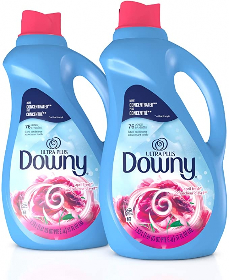 ihocon: Downy Ultra Plus Liquid Fabric Conditioner, Concentrated, 51 oz Bottles, 2 Pack, 152 Loads Total 濃縮織物柔軟劑