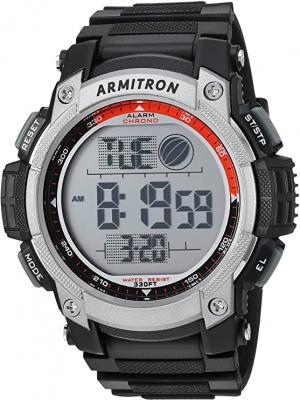 ihocon: Armitron Sport Men's 40/8252BLK Black Digital Chronograph Watch  男士運動計時錶