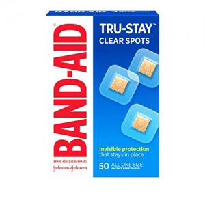 ihocon: Band-Aid Brand Tru-Stay Clear Spots Bandages for Discreet First Aid, All One Size, 50 Count 創可貼