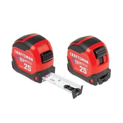 ihocon: CRAFTSMAN PROREACH 2-Pack 25-ft Auto Lock Tape Measure  25呎測量尺