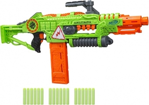 ihocon: Revoltinator Nerf Zombie Strike Toy Blaster with motorized Lights Sounds & 18 Official Darts 聲光玩具槍