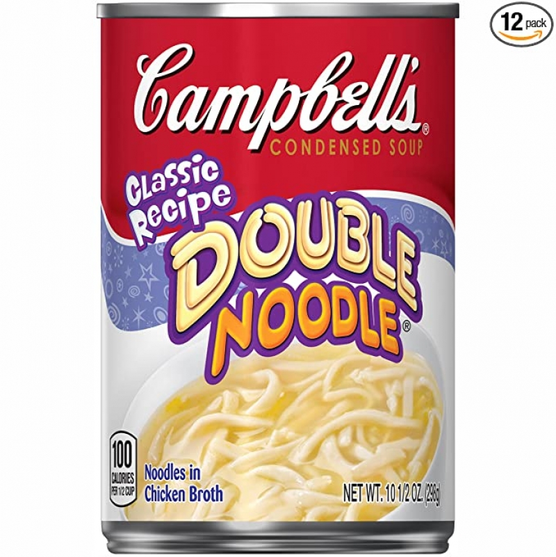 ihocon: Campbell'sCondensedDouble NoodleSoup, 10.5 Ounce (Pack of 12) 湯麵罐頭