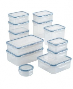 ihocon: Lock n Lock Easy Essentials Basics 24-Pc. Food Storage Container Set  保鮮盒
