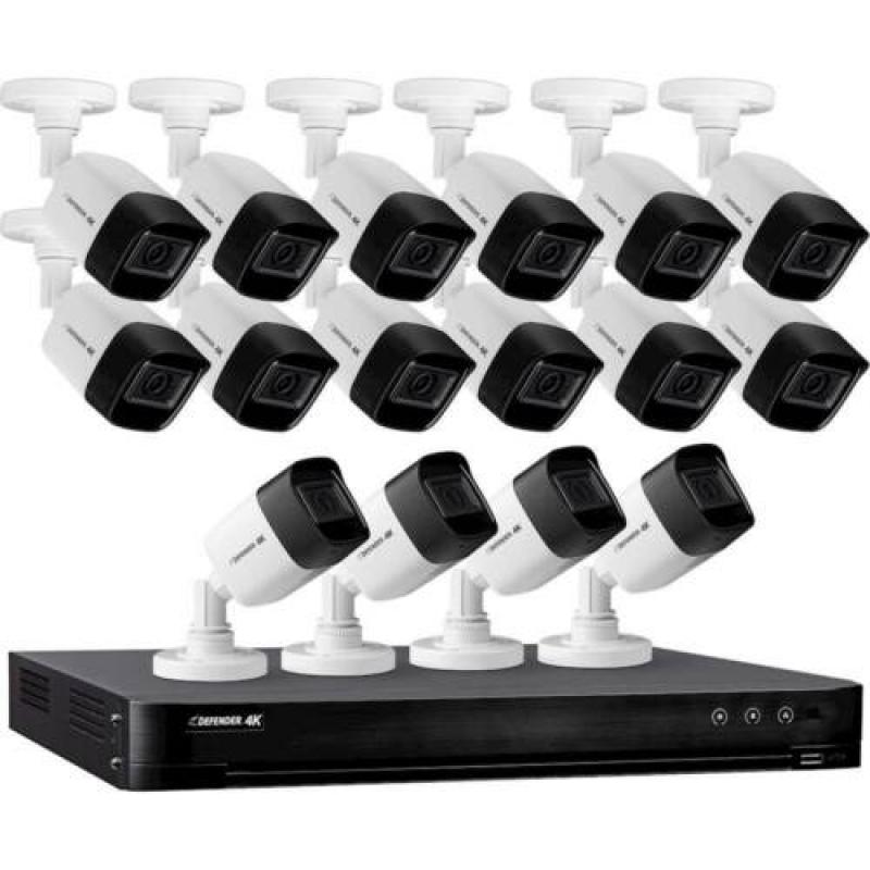 ihocon: Defender 16-Channel 16-Camera 4K 4TB HDD DVR Security System 居家安全監視系統(含4TB硬碟)
