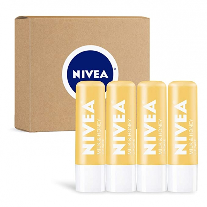 ihocon: 妮維雅NIVEA Milk & Honey Lip Care, 0.17 oz Tube - 4 Pack 牛奶蜂蜜護唇膏