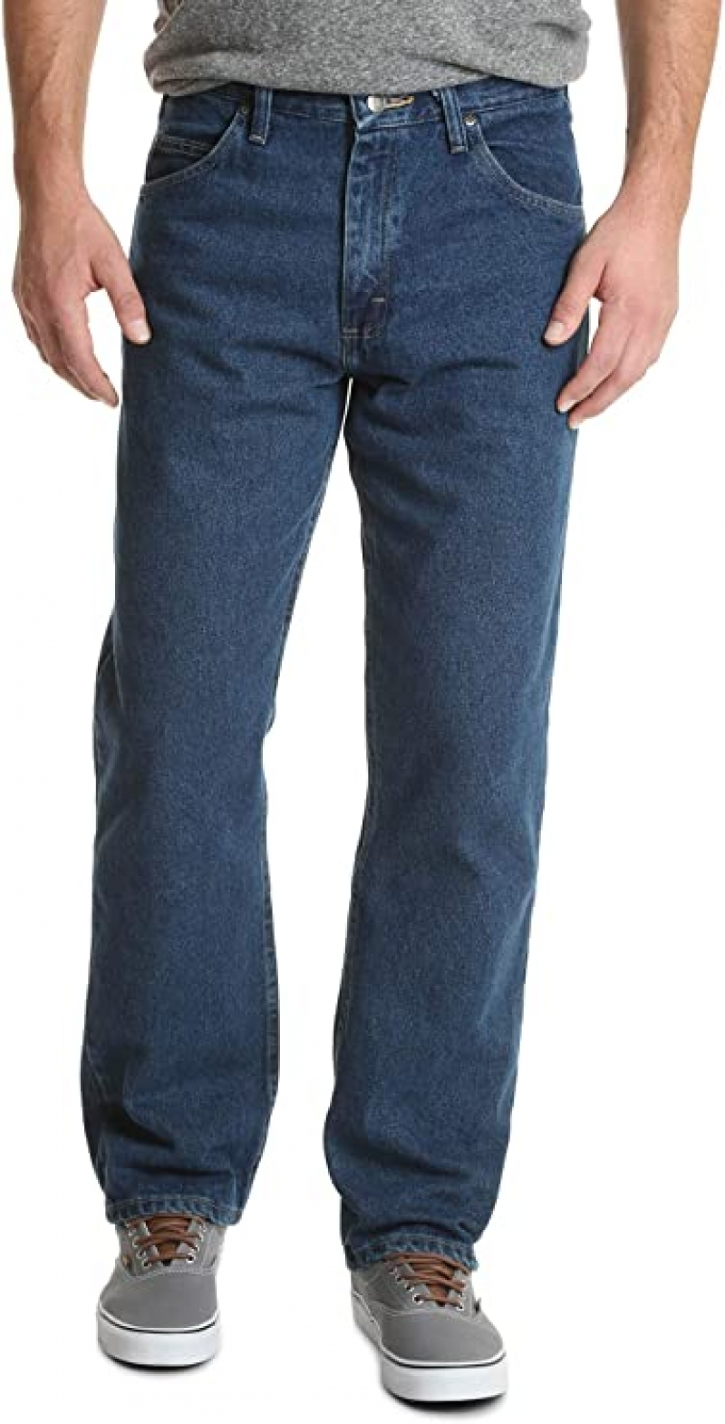 ihocon: Wrangler Authentics Men's Classic 5-Pocket Relaxed Fit Cotton Jean  男士牛仔褲