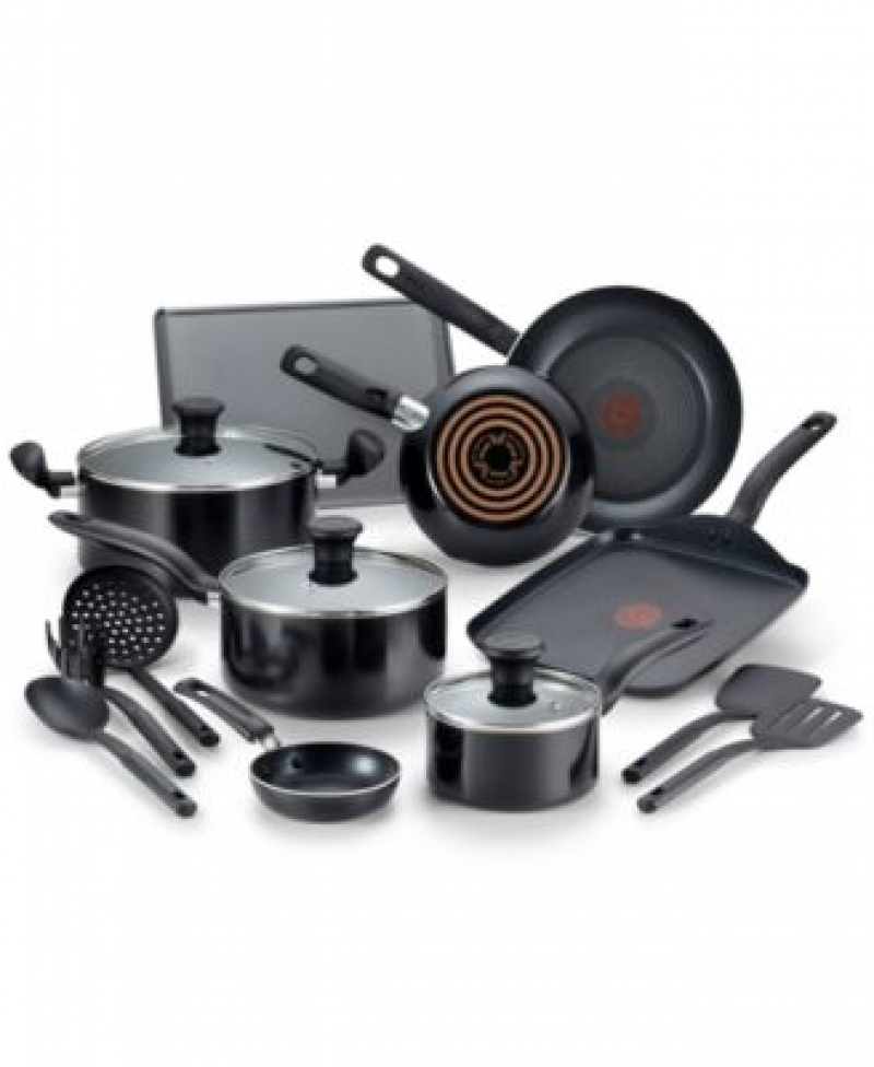ihocon: T-Fal Culinaire 16-Pc. Nonstick Aluminum Cookware Set 不粘鍋組