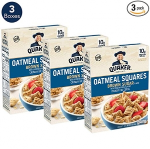 Quaker Oatmeal Squares Breakfast Cereal 3盒 $6.73免運(原價$8.97)