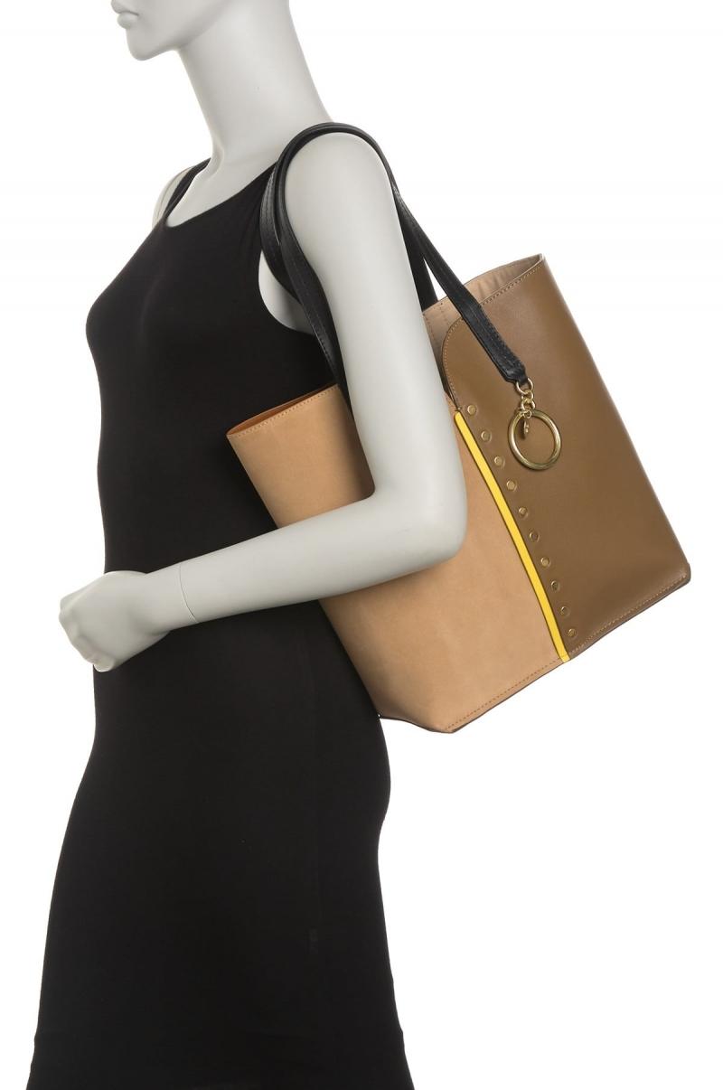 ihocon: See By Chloe Gaia Two-Tone Leather Tote Bag 雙色皮包-2色可選