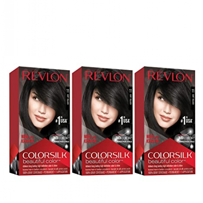 ihocon: Revlon Colorsilk Beautiful Color, 4.4 oz (Pack of 3) 露華濃染髮劑