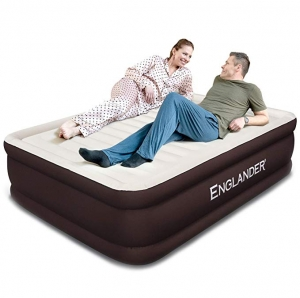 ihocon: Englander Luxury Microfiber airbed with Built-in Pumpuests Home, 5-Year Warranty 內建幫浦空氣床